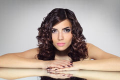 Portrait of a girl with beautiful hairstyle Royalty Free Stock Photo