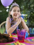 Portrait Of Girl At Birthday Party Royalty Free Stock Photo