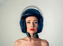 Portrait of a girl in a black hat Royalty Free Stock Photography