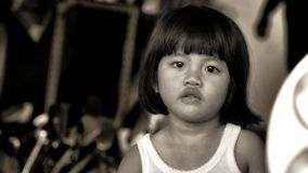 Girl portrait in black and white in indonesia. Portrait of a girl in black and white in indonesia Stock Images