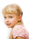 Portrait of a girl with blond hair Royalty Free Stock Images