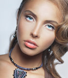Portrait of girl with blue eyes Stock Image