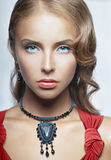 Portrait of girl with blue eyes Royalty Free Stock Photography
