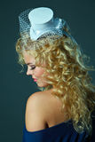 Portrait of a girl in a bonnet Royalty Free Stock Photo