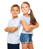 Portrait of girl and boy Stock Image