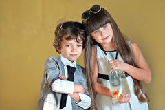 Portrait of a girl and boy Royalty Free Stock Images