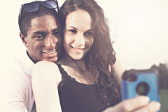 Portrait of girl and boyfriend Stock Photography