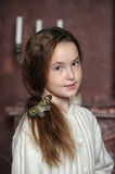 Portrait of a girl with a butterfly Royalty Free Stock Image