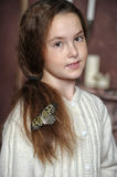 Portrait of a girl with a butterfly Royalty Free Stock Photography