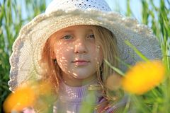 Portrait of a girl in a cap Royalty Free Stock Images