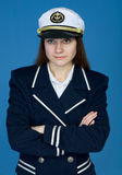 Portrait of the girl - captain Stock Image