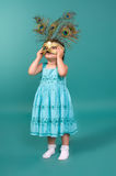 Portrait of a girl with a carnival mask Stock Image