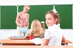 Portrait of the girl in the class Royalty Free Stock Images