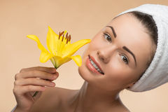 Portrait of girl with clean and fresh skin Royalty Free Stock Image