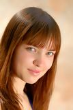Portrait girl, close-up Royalty Free Stock Images