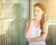 Portrait of a girl close up. Royalty Free Stock Images