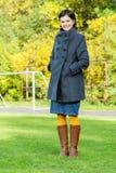 Portrait of girl in coat Stock Photography