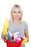Portrait of the girl - concept Cleaning Stock Photo