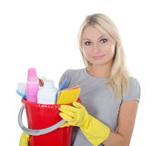 Portrait of the girl - concept Cleaning Stock Photos