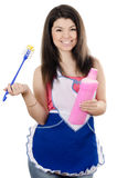 Portrait of the girl - concept Cleaning Royalty Free Stock Images