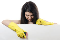 Portrait of the girl - concept Cleaning Stock Photography