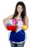 Portrait of the girl - concept Cleaning Royalty Free Stock Photo