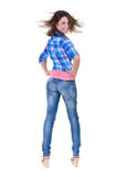 Portrait of a girl cool growth Royalty Free Stock Photo