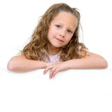 Portrait of girl with copy space. Royalty Free Stock Images