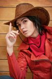 Portrait of the girl - cowboy Royalty Free Stock Image