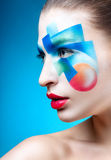 Portrait of a girl with creative make-up Stock Photo