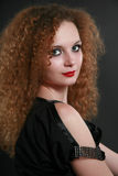 Portrait of girl curls Royalty Free Stock Photos