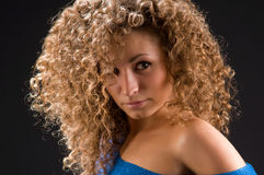Portrait of a girl with curly hair Stock Photo