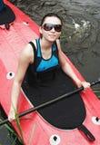 Portrait of the girl in dark glasses Stock Photo