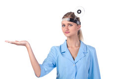 Portrait of a girl doctor. Royalty Free Stock Photo