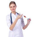 Portrait of a girl doctor. Royalty Free Stock Photos