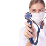 Portrait of a girl doctor in a mask Royalty Free Stock Images
