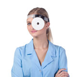 Portrait of a girl doctor in a mask Royalty Free Stock Image