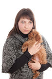 Portrait of a girl with a dog Royalty Free Stock Photo