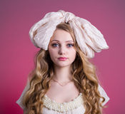 Portrait of the girl doll Royalty Free Stock Images