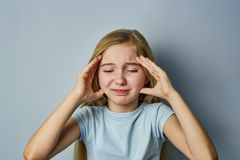 Portrait of a girl with emotions on her face royalty free stock photos