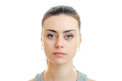 Portrait of girl without emotions Royalty Free Stock Image