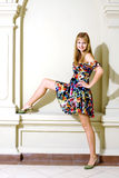 Portrait of the girl in a fashionable dress Royalty Free Stock Photography