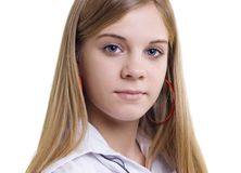 Portrait of the girl of fifteen years Royalty Free Stock Photography