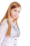 Portrait of the girl of fifteen years Stock Image