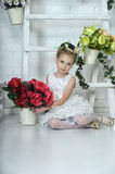 Portrait of a girl with flowers Royalty Free Stock Photography