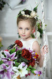 Portrait of a girl with flowers Royalty Free Stock Photo