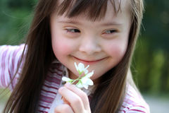 Portrait of girl with flowers Royalty Free Stock Photo