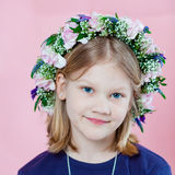 Portrait of a girl with garland Stock Photography