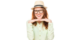 Portrait of a girl with glasses Royalty Free Stock Images
