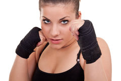 Portrait of a girl with gloves Royalty Free Stock Photography